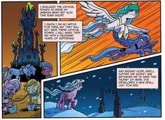#861994 - crystal palace, crystal pony, filly, idw, princess celestia, princess luna, radiant hope, s1 luna, safe, spoiler:comic, spoiler:comicfiendshipismagic1 - Derpibooru - My Little Pony: Friendship is Magic Imageboard