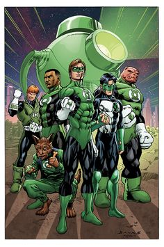 Classic GL Corps by the man himself! Lines by Darryl Banks Colors by me Green Lantern Corps 2005 RH Batman And Catwoman, Batman And Superman, Dc Comics Art, Marvel Dc Comics, Green Lantern Corps, Green Lanterns, All Superheroes, Superhero Characters, Superhero Design