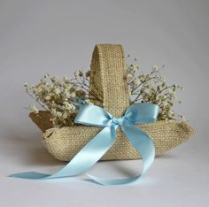 tying the knot shower theme | Nutfield Weaver: Theme & variations on a burlap basket
