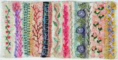 Felted Sampler with Embroidery | Flickr - Photo Sharing!