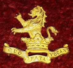 7th Dragoon Guards Officers Gilt cap badge 1906-1922