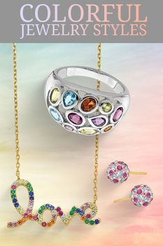 Multi-color stone jewelry is unique, vibrant, and versatile. The blended colors create a bright and cheerful assortment. Shop our beautiful blends here #QualityGold #ColorfulJewelry #SpringFashion #Jewelry #ColorfulJewelryStyle #MultiColorJewelry #StoneJewelry #MultiColorStoneJewelry #ColorfulStyle #GemstoneJewelry Color Stone, Crazy Colour, Colorful Fashion, Peridot, Gemstone Jewelry, Fashion Jewelry, Vibrant, Pendants, Bright