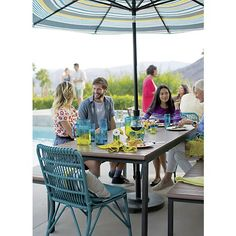 Kruger Harbor Blue Dining Chair With Sunbrella® Cushion In Sale Outdoor  Furniture | Crate And Part 78