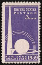 The 1939 U.S. New York World's Fair stamp was issued on  April 1, 1939.