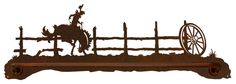 Ironwood Industries cowboy bronc rider scenic bath towel bar western bathroom decor american made cowboy decor Western Bathroom Decor, Western Bathrooms, Vanity Lighting, Bath Towels, Lights, Bar, American, Hi Lights, Light Fixture