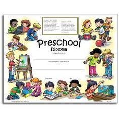 Preschool Diploma   School   Pinterest