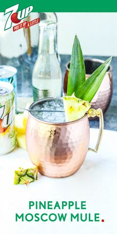A moscow mule is a classic summer drink for a reason—it's refreshing, fizzy, and fun. But thanks to this recipe for a Pineapple Moscow Mule, you can add fruity to the list! Try out this delicious blend of flavors by whipping up this easy cocktail for your friends at your next get-together. And by picking up everything you need—like the 7UP®, ginger beer, vodka, and pineapple juice—at Target, party planning just got a lot easier.