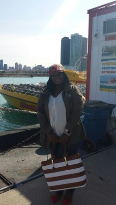 Before I board the Seadog speedboat on a waterfront tour.