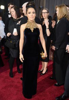 Salma Hayek, style : Alexander McQueen, Oscars 2013