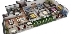 Plantas de casas em 3D: 34 modelos e softwares