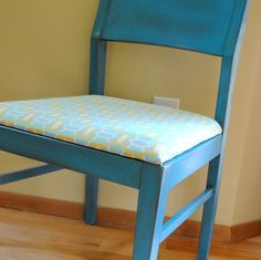 (WITH PAINT) Roadside Restoration: Distressed Turquoise Chair