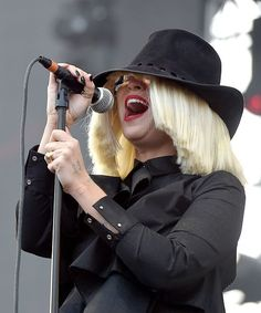 Sia puts on display her thick skin during a soaring performance at KIIS-FM's Wango Tango 2015 on May 9 in Carson, Calif.