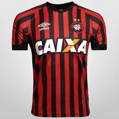 Camisa Umbro Atlético Paranaense I 2015 s/nº - Vermelho+Preto