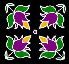 muggulu design with dots