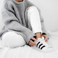 MINIMAL + CLASSIC .09 The Chunky Knit https://zady.com/products/zady-09-09-grey-chunky-knit-sweater