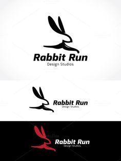 Check out Rabbit Run by Super Pig Shop on Creative Market #rabbit logo
