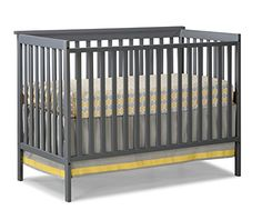 Stork Craft Sheffield Fixed Side Convertible Crib, Gray - http://activelivingessentials.com/baby-essentials/baby-cribs/stork-craft-sheffield-fixed-side-convertible-crib-gray