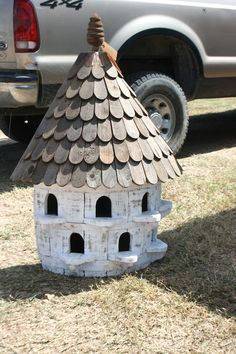 We are pretty sure this bird house was made out of an old barrel. The new owner's backyard will be even more fabulous with this treasure in it.