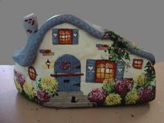 Cottage Painted On a Rock - Yahoo Image Search Results