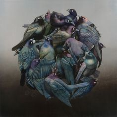 Surreal Wildlife Paintings by Tiffany Bozic painting nature illustration animals