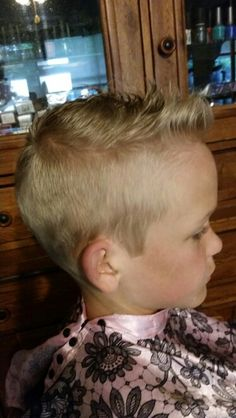 Little boy haircut