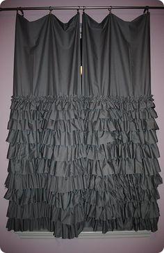 ruffle curtains tutorial