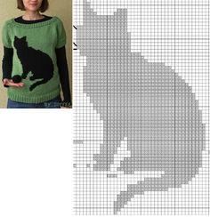 Knitting Paterns, Knitting Charts, Knitting Stitches, Baby Knitting, Cat Cross Stitches, Cross Stitch Charts, Cross Stitch Embroidery, Cross Stitch Patterns, Crochet Cat Pattern