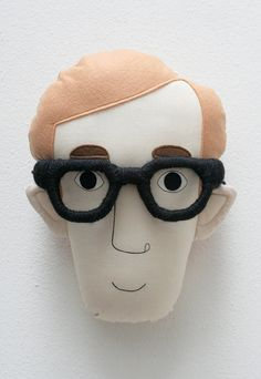 Pillow face  Woody Allen van pollaz op Etsy, €45.00