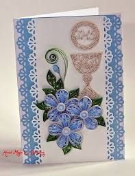 Quilling by DomiLove 3d Quilling, Paper Quilling Cards, Quilled Paper Art, Paper Quilling Designs, First Communion Banner, Première Communion, New Crafts, Paper Crafts, Free Quilling Patterns