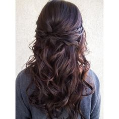 half up half down wedding hair ~ we ❤ this! moncheribridals.com #longweddinghair