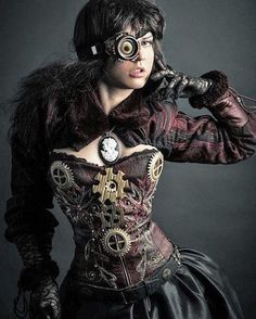 Just Stand there And look Stupid ! Viktorianischer Steampunk, Steampunk Couture, Steampunk Cosplay, Steampunk Clothing, Steampunk Fashion, Victorian Fashion, Fashion Goth, Steampunk Necklace, Victorian Gothic