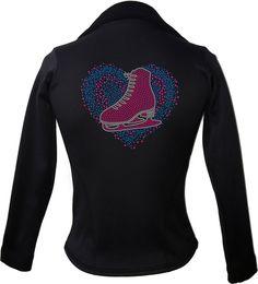 Kami-So Polartec Ice Skating Jacket - Love Skate Multi Blue 1 | This beatiful figure skating jacket is made from Polartec Fabric #figureskating #figureskatingstore #figureskates #skating #skater #figureskater #iceskating #iceskater #icedance #ice #skates #pants #iceskates #skatingapparel #skatingjacket #kamiso #figureskatingjacket