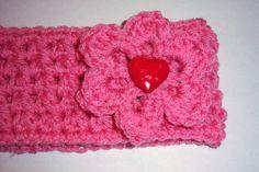 Valentine Headband Earwarmer Ready To Ship by LoveKnots2 on Etsy, $10.00