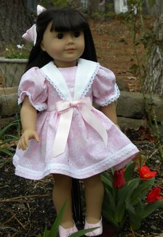 In the Pink Dress for 18 inch doll. by mydollyscloset1 on Etsy