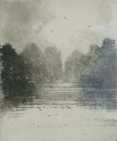 Norman Ackroyd - 'Suffolk Mere Framed including VAT' - DAVID CASE FINE ART