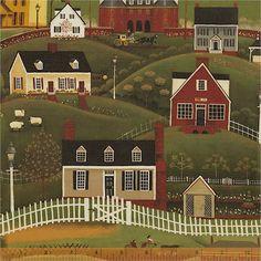 Folk Art Village, 31910-X, Windham Fabrics