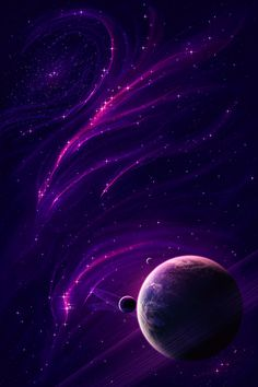 Space art Purple Insanity by lordgibby The Purple, Purple Stuff, All Things Purple, Shades Of Purple, Purple Art, Planets Wallpaper, Galaxy Wallpaper, Purple Wallpaper, Beautiful Wallpaper