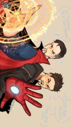 Marvel Anime, Marvel Jokes, Marvel Heroes, Marvel Avengers, Images Star Wars, Baby Avengers, Marvel Fan Art, Doctor Strange, Avengers Infinity War