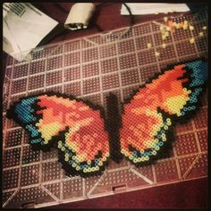 Butterfly perler beads by Michelle Barker