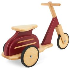 Wooden Scooter, Wooden Toy Cars, Wood Toys, Tricycle, Ride On Toys, Diy Toys, Woodworking Crafts, Kids Furniture, Wood Crafts