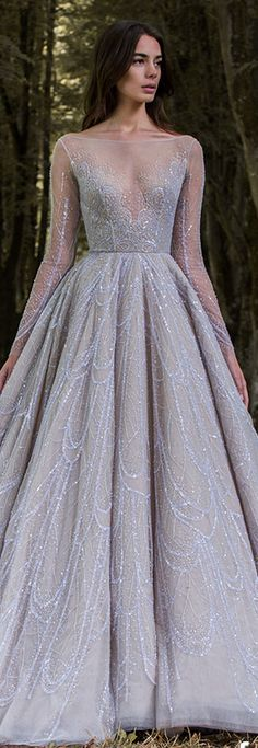 Paolo Sebastian 2016/17 Autumn Winter - Gilded Wings. #cinderella #elegant #dress <3