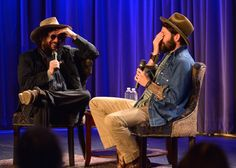 Don Was and Ray LaMontagne can't believe their ears during A Conversation With Ray LaMontagne at the GRAMMY Museum on Oct. 9 in Los Angeles