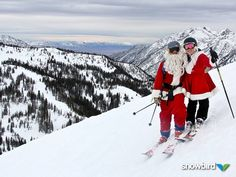 We put powder on our wish-list, and Santa delivered! #snowbird #santa #skiingsanta #ski #snowboard