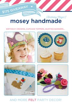 $175 GIVEAWAY: mosey handmade {Felt Party Decor} @Hostess with the Mostess