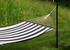 Steel Hammock Post - just one of many ways to hang a hammock.