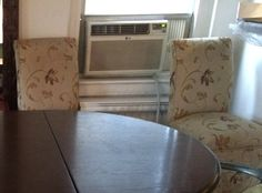 Pair of Two upholstered Dining Chairs by NYCfurnishings on Etsy