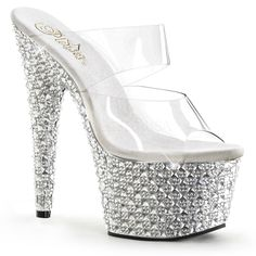 Pleaser Exotic Dancing Shoes Bejeweled 702PS (specialty collection), $161.95