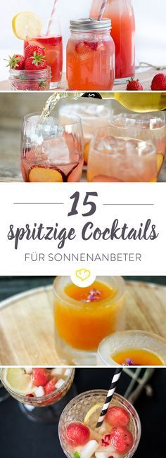 The summer comes. And these 15 cocktails too. - The summer comes. And these 15 cocktails too. The summer comes. And these 15 cocktails too. Sangria Recipes, Cocktail Recipes, Party Drinks, Cocktail Drinks, Vegetable Drinks, Non Alcoholic Drinks, Beverages, Yummy Drinks, Food And Drink