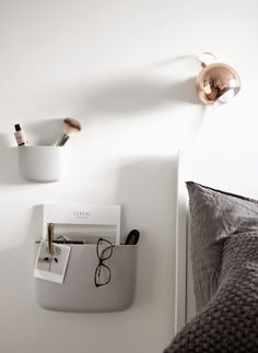 the normann copenhagen, pocket organizers, bedroom styling, scandinavian interior, via http://www.scandinavianlovesong.com/