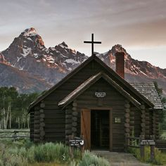 This little church outside Jackson Hole, WY has a picture window facing the Grand Teton Mountains -- a breathtaking view!